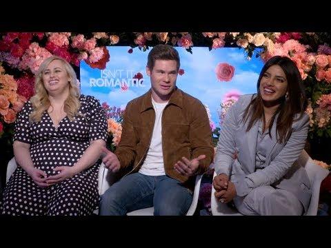 Priyanka Chopra, Rebel Wilson, Adam Devine interview for ISN'T IT ROMANTIC, Nick Jonas