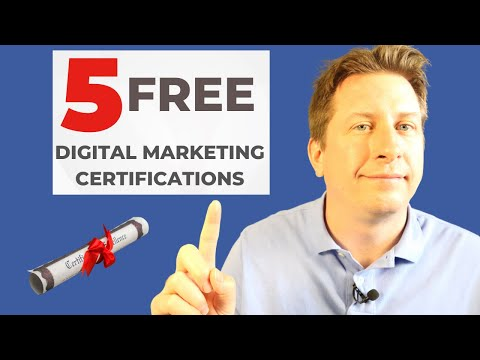 5 of the Best Free Digital Marketing Certifications in 2021 - YouTube