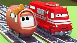 Поезд Трой и Происшествие с малышами в Автомобильный Город | Мультфильм для детей