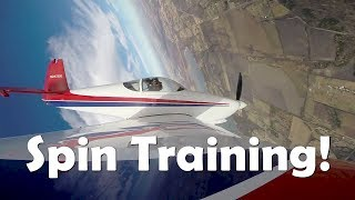 RV Aircraft Video - RV-7A Spin Training