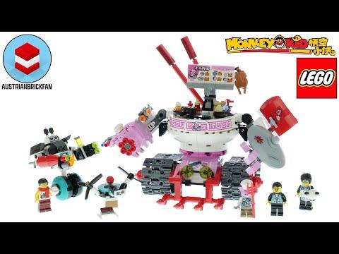 Vidéo LEGO Monkie Kid 80026 : Le char de nouilles de Pigsy