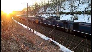 ハマナス下り最終列車午前5時50分北海道北広島市