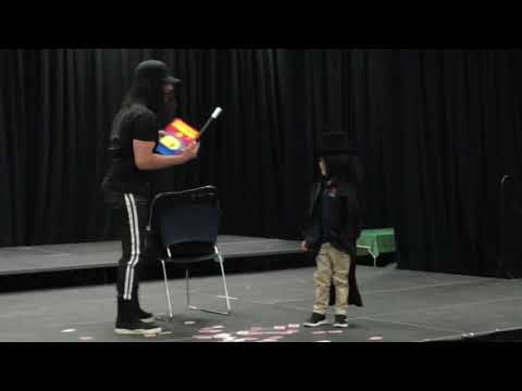 Criss Angel performing magic with his son for his classmates is surprisingly wholesome