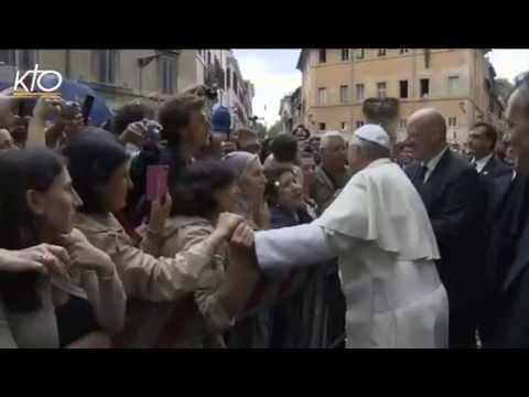 Le Pape François visite la communauté de Sant' Egidio