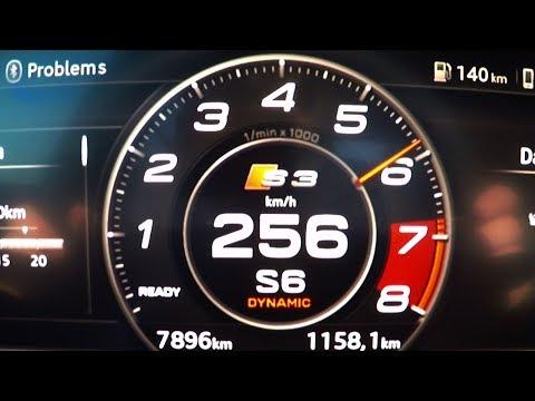 2018 Audi S3 Sportback 2.0 TFSI 0-100 kmh kph 0-60 mph Tachovideo Beschleunigung Acceleration