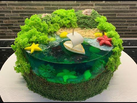 Мастер-класс создания торта Остров