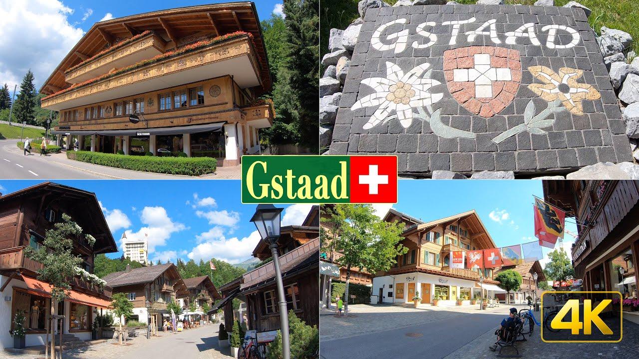 Walk through Gstaad Switzerland in 4K