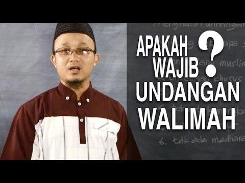 Video Serial Fikih Keluarga (30): Wajib Menghadiri Undangan Walimah - Ustadz Aris Munandar
