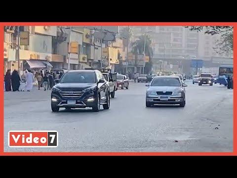 إعادة فتح شارع جامعة الدول بعد انتهاء صلاة عيد الفطر