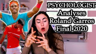 PSYCHOLOGIST Analyses Nadal vs. Djokovic. GRAND SLAM FINAL 2020. Roland Garros 2020. French Open