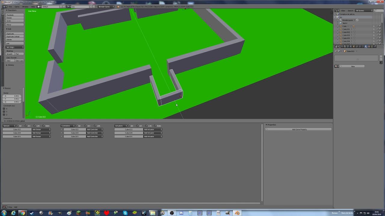◄Tuto comment créer un jeu vidéo avec blender 3d ep 5♦level designe►