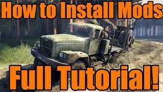 Spin Tires   How To Install Mods and Maps! Full Tutorial from Start to Finish