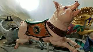 "Meet ""Big Mouth"" the Carousel Pig"