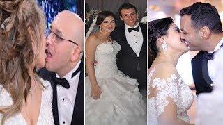 شاهد كيف بدت أحلام بلقيس أيتن عامر دنيا سمير غانم وغيرهن في ليلة زفافهن وتعرف على ازواجهم
