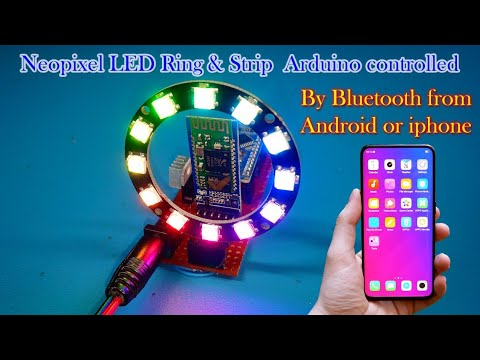 Neopixel ws2812 LED Strip or LED Ring 12bit with Arduino