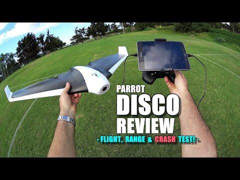 PARROT DISCO Review - [Flight/Crash/Range Test!, Pros & Cons]