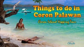 Things to Do in Coron l Island Hopping l malcapuya twin lagoon kayangan lake Philippines Beach Vlog