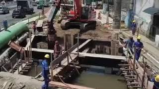 Nova Entrada de Santos: reforma da ponte sobre o Rio Lenheiros. Confira Imagens