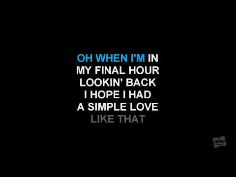Simple Love in the style of Alison Krauss karaoke video with lyrics
