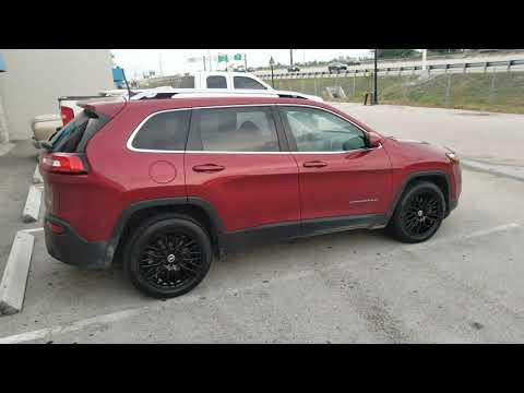 "877-544-8473 18"" Spec-1 SP-55 Black Wheels Jeep Cherokee Limited Custom Wheels Concave Rims"