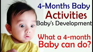 4-months Baby Activities | Baby's Growth & Development | 4-month Old Baby Characteristics