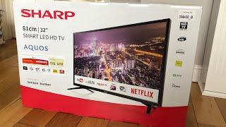 """Sharp LED TV 2019 32"""" unboxing"""
