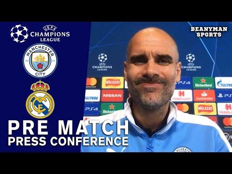Pep Guardiola – Man City v Real Madrid – Pre-Match Press Conference – Champions League