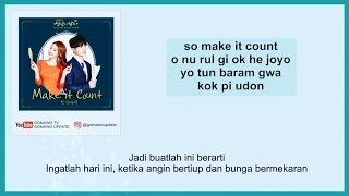 Easy Lyric CHEN - MAKE IT COUNT (OST. Touch Your Heart) by GOMAWO [Indo Sub]