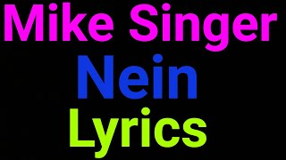 Mike Singer | Nein | Lyrics