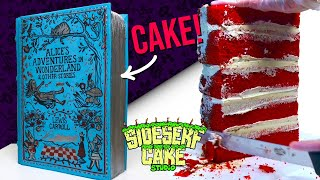 HOW TO MAKE A REALISTIC BOOK CAKE | Alice In Wonderland