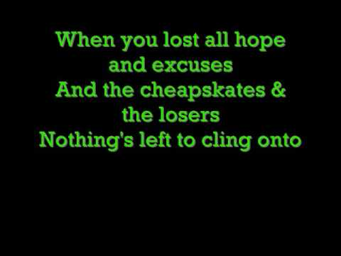 Green day Hold on lyrics