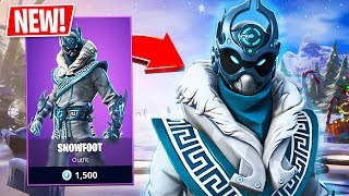 New Snowfoot Skin! (Fortnite Live Gameplay)