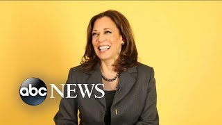 2020 presidential candidate Kamala Harris shares advice for young women