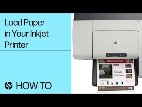 Loading paper in your Inkjet printer