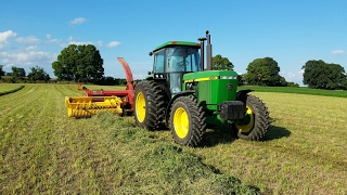 Chopping Hay! With John Deere 4055 & New Holland FP230 Chopper