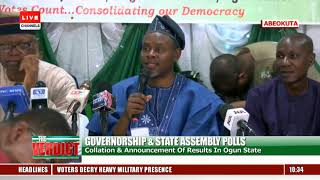Ogun State Governorship Election Result Collation Pt.1 |The Verdict|