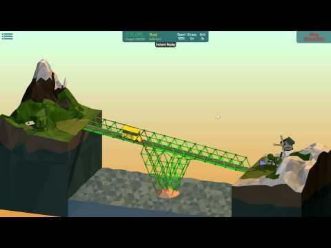 Poly Bridge Solution [28m Wooden Highbridge 2-1]