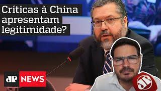 Rodrigo Constantino: 'Perguntas feitas a Ernesto Araújo quase não tem ligação com a pandemia'