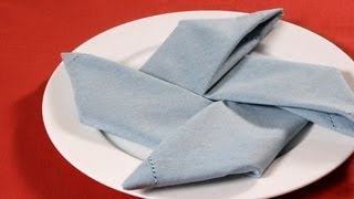 How To Fold A Napkin Into A Pinwheel | Napkin Folding