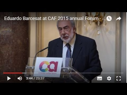 Eduardo Barcesat at CAF 2015 annual Forum - 3rd Session