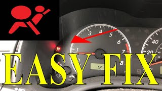 How to reset or turn off honda CRV SRS airbag light - Самые лучшие видео