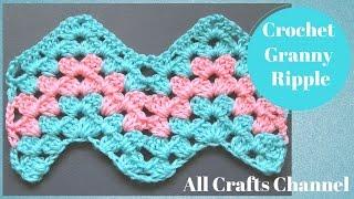 How To Crochet Granny Ripple Pattern