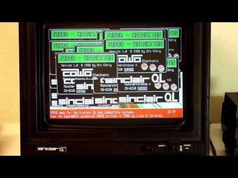 Linus Torvalds 1986 Sinclair QL software GMOVE (pre Linux) - video 1 of 2
