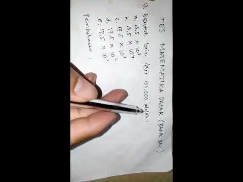 Trik Cara mengerjakan tes matematika dasar Pada Soal Ujian Bank BNI