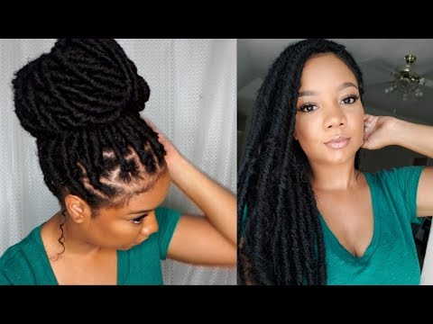 I FINALLY TRIED INDIVIDUAL FAUX LOCS! || LIGHTWEIGHT PROTECTIVE STYLE | SAMSBEAUTY