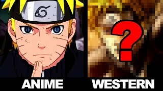 DRAWING ANIME in an WESTERN STYLE! Drawing NARUTO SHIPPUDEN !