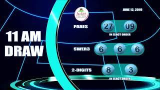 [LIVE] PCSO 11:00AM Lotto Draw   June 12, 2019