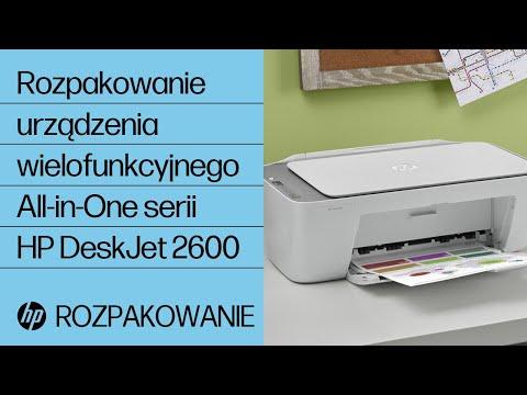 Rozpakowanie urządzenia wielofunkcyjnego All-in-One serii HP DeskJet 2600