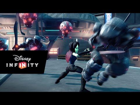 Видео № 1 из игры Disney Infinity 2.0 (Marvel) Набор 2+1: Cтражи Галактики (Звёздный лорд, Гамора, локация Стражи Галактики) (Б/У)