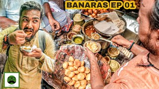 Breakfast in Varanasi (Kashi, Banaras) with Veggiepaaji Choti, Medium & Badi Kachori | EP 01